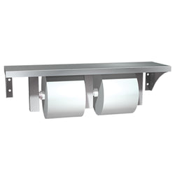 ASI 0697-GAL Shelf w/ Toilet Paper Holder Double Surface Mounted - Satin