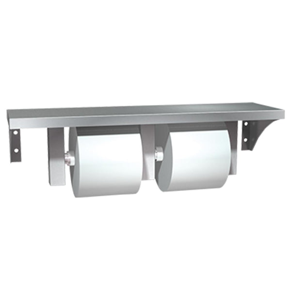 ASI 0697-GAL Shelf w/ Toilet Paper Holder Double Surface Mounted - Satin - Prestige Distribution