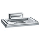 ASI 0720-Z Soap Dish w/ Drain Hole Zamac Surface Mounted - Chrome
