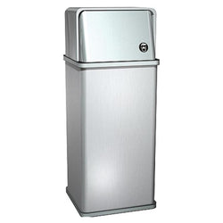 ASI 0810 Traditional Waste Receptacle w/ Swing Top 14 Gal. Freestanding - Satin