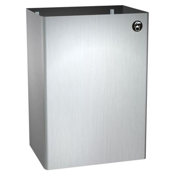 ASI 0826 Traditional Waste Receptacle 12 Gal. Surface Mounted - Satin