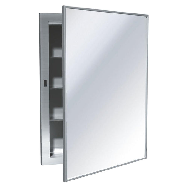 ASI 0952-B Medicine Cabinet w/ Mirror Swing Door Recessed - Satin - Prestige Distribution