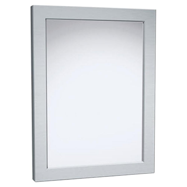 ASI 101-14 Mirror Security Framed Chase Mounted - Satin