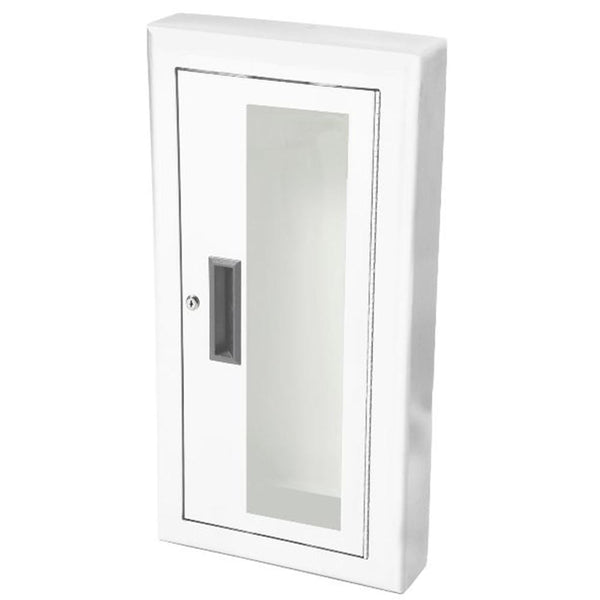 JL Industries 1012G10A Ambassador Fire Extinguisher Cabinet Full Glass w/ Pull Handle & SAF-T-LOK - Prestige Distribution