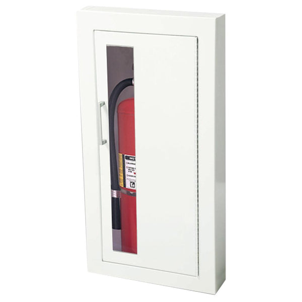 JL Industries 1016V10 Ambassador Fire Extinguisher Cabinet Vertical Duo Panel w/ Pull Handle - Prestige Distribution