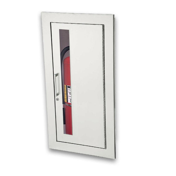 JL Industries 1025W10 Academy Fire Extinguisher Cabinet Vertical Duo w/ Pull Handle & SAF-T-LOK