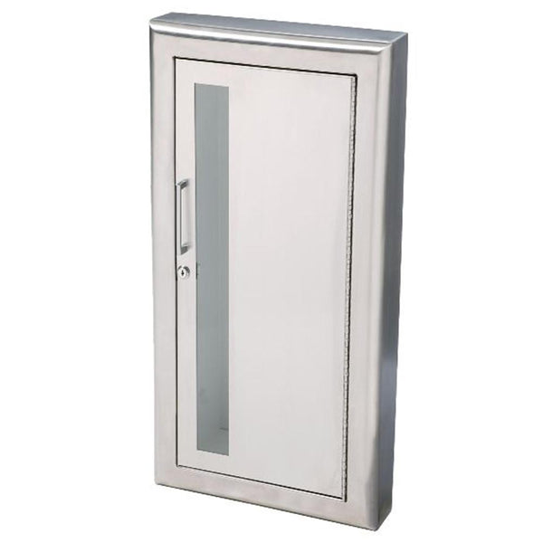 JL Industries 1037W10FX2 Cosmopolitan Fire Extinguisher Cabinet Vertical Duo w/ Pull Handle & SAF-T-LOK Fire Rated