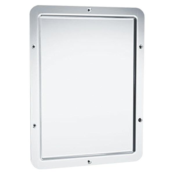 ASI 107-14 Mirror Security Framed w/ Rounded Corner Front Mounted