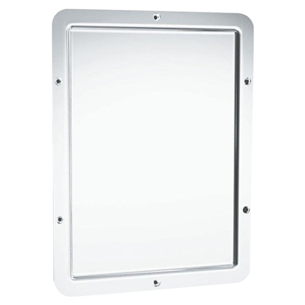ASI 107 Mirror Security Framed w/ Rounded Corner Front Mounted