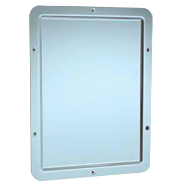 ASI 108 Mirror Security Framed w/ Rounded Corner Chase Mounted