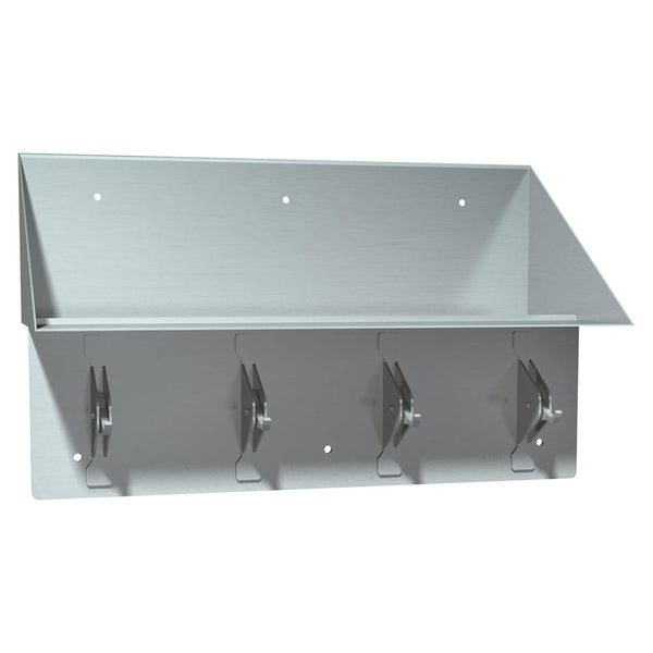 ASI 137 Bookshelf w/ 4 Security Clothes Hooks Surface Mounted - Satin - Prestige Distribution