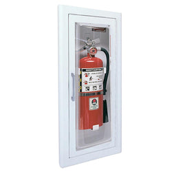 JL Industries 1515F25 Clear VU Fire Extinguisher Cabinet Full Glass w/ Pull Handle