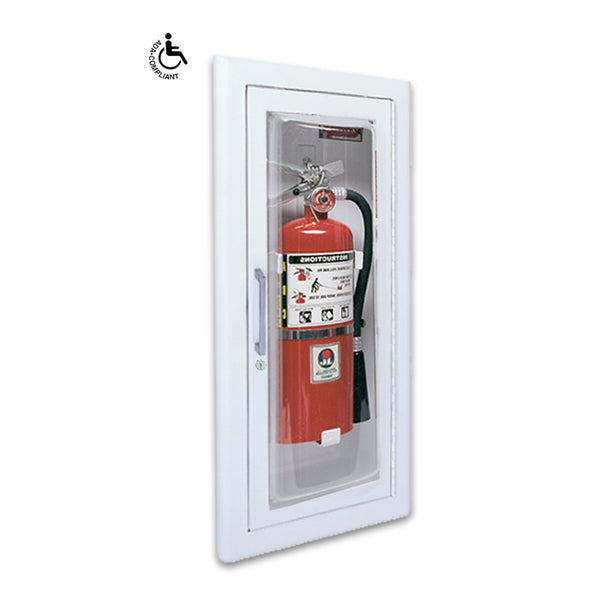 JL Industries 1515G25 Clear VU Fire Extinguisher Cabinet Full Glass w/ Pull Handle & SAF-T-LOK