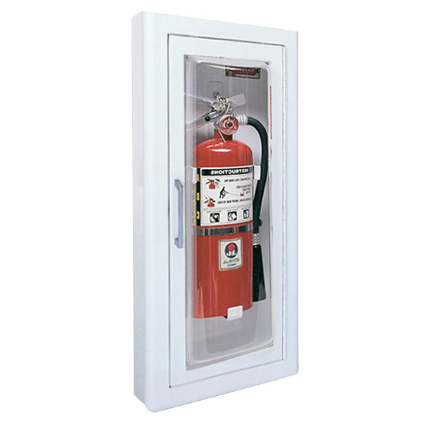 JL Industries 1516F25FX2 Clear VU Fire Extinguisher Cabinet Full Glass w/ Pull Handle Fire Rated