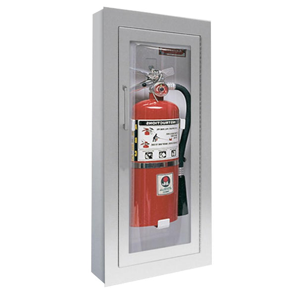 JL Industries 1526F25 Clear VU Fire Extinguisher Cabinet Clear Acrylic Full Glazing w/ Pull Handle