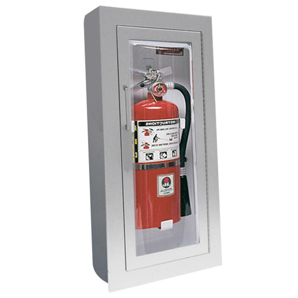 JL Industries 1527F25 Clear VU Fire Extinguisher Cabinet Clear Acrylic Full Glazing w/ Pull Handle - Prestige Distribution