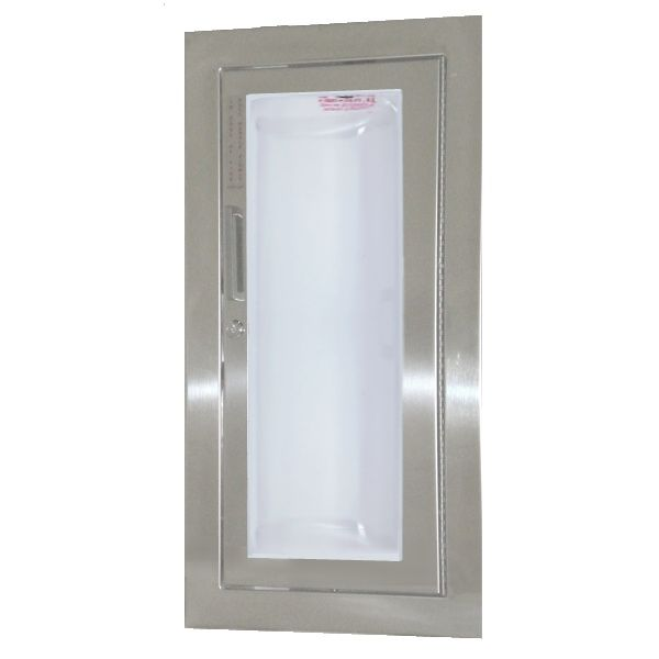 JL Industries 1535G25 Clear VU Fire Extinguisher Cabinet Clear Acrylic Full Glazing w/ Pull Handle & SAF-T-LOK