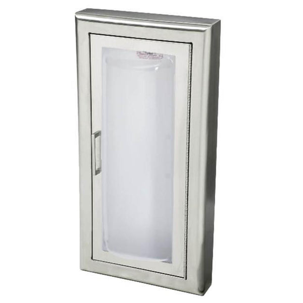 JL Industries 1537F25 Clear VU Fire Extinguisher Cabinet Clear Acrylic Full Glazing w/ Pull Handle