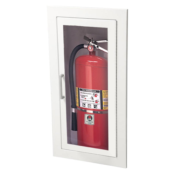 JL Industries 1815G10 Ambassador Fire Extinguisher Cabinet Full Glass w/ Pull Handle & SAF-T-LOK