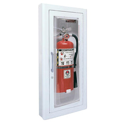JL Industries 1817F10FX2 Ambassador Fire Extinguisher Cabinet Full Glass w/ Pull Handle Fire Rated