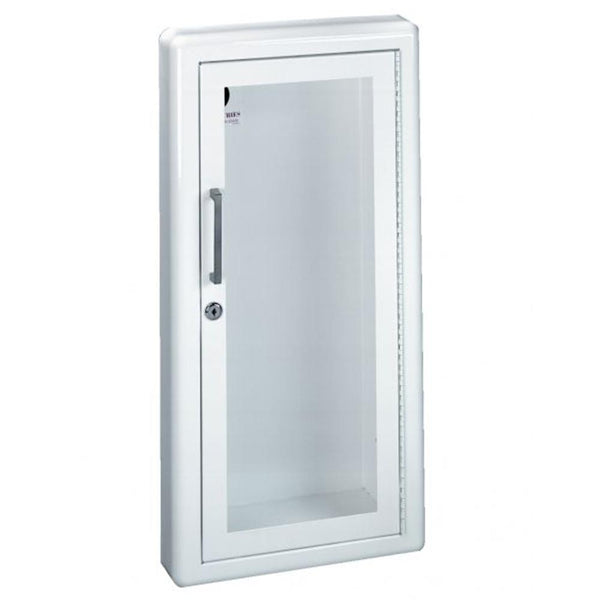 JL Industries 1817G10 Ambassador Fire Extinguisher Cabinet Full Glass w/ Pull Handle & SAF-T-LOK