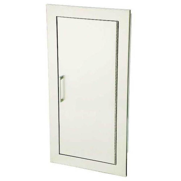 JL Industries 1835S21 Cosmopolitan Fire Extinguisher Cabinet Solid Door w/ Pull Handle - Prestige Distribution
