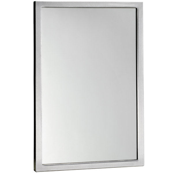 Bobrick B290 24 Mirror Welded Angle Framed Surface Mounted - Satin