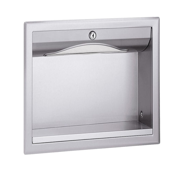 Bradley 1985-00 Paper Towel Dispenser Recessed Behind Drywall/Mirror - Satin - Prestige Distribution