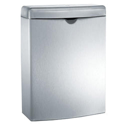 ASI 20852 Roval Sanitary Napkin Waste Disposal 1 Gal. Surface Mounted - Satin