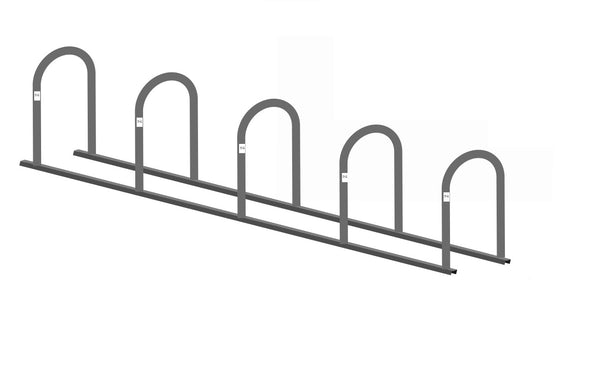 Bike Fixation 2144C Bike Corral Non-Angled 12 Bike - Galvanized