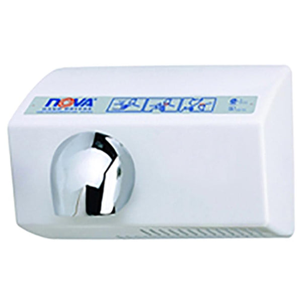 World Dryer 21200000 NOVA 5 Automatic Hand Dryer Aluminum Surface Mounted - White