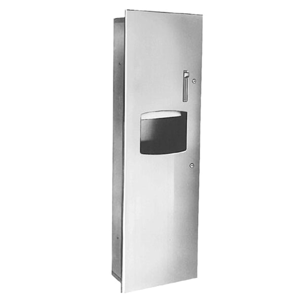 Bradley 2277-1100 Paper Towel Dispenser & Waste Receptacle Surface Mounted - Satin