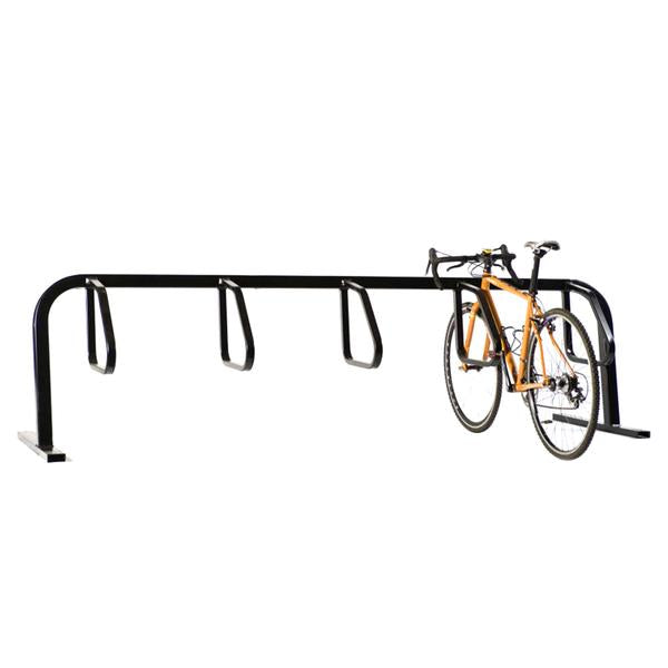 Bike Fixation 2406 City Rack 4 Bike Single Sided Flange Mount - Galvanized