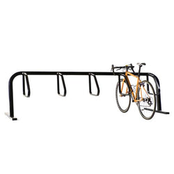 Bike Fixation 2411 City Rack 6 Bike Single Sided Below Grade Mount - Galvanized