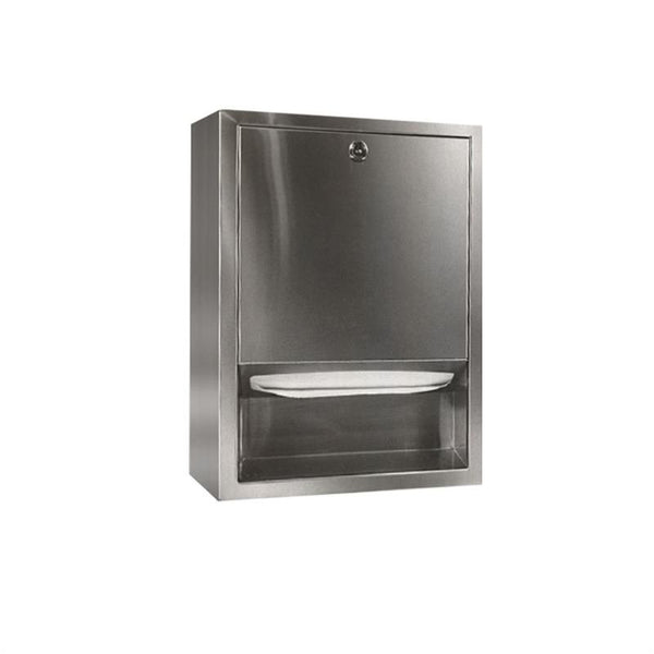 Bradley 2441-0000 Standard Paper Towel Dispenser Recessed - Satin - Prestige Distribution