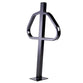 Bike Fixation 2452 Post and Ring Bike Rack Below Grade Mount - Galvanized