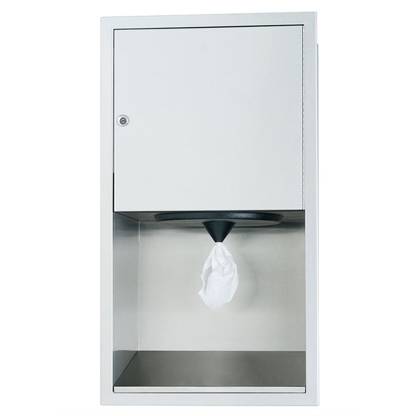 Bradley 2479-1000 Standard Paper Towel Dispenser Semi-Recessed - Satin