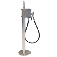 Bike Fixation 26240 High Security Outdoor Bike Pump w/ Gauge Short Hose Floor Mount - Stainless
