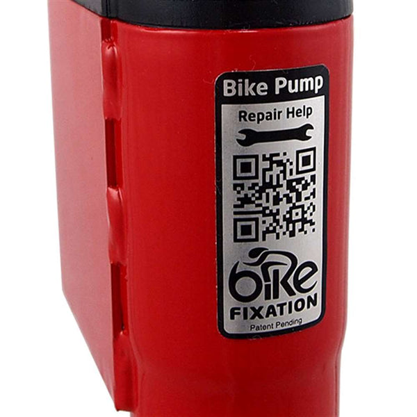 Bike Fixation 26250 High Security Indoor Bike Pump Long Hose Floor Mount - Powder Coat
