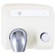 Bradley 2904-2800 Aerix Push Button Hand Dryer Cast Iron Surface Mounted - White