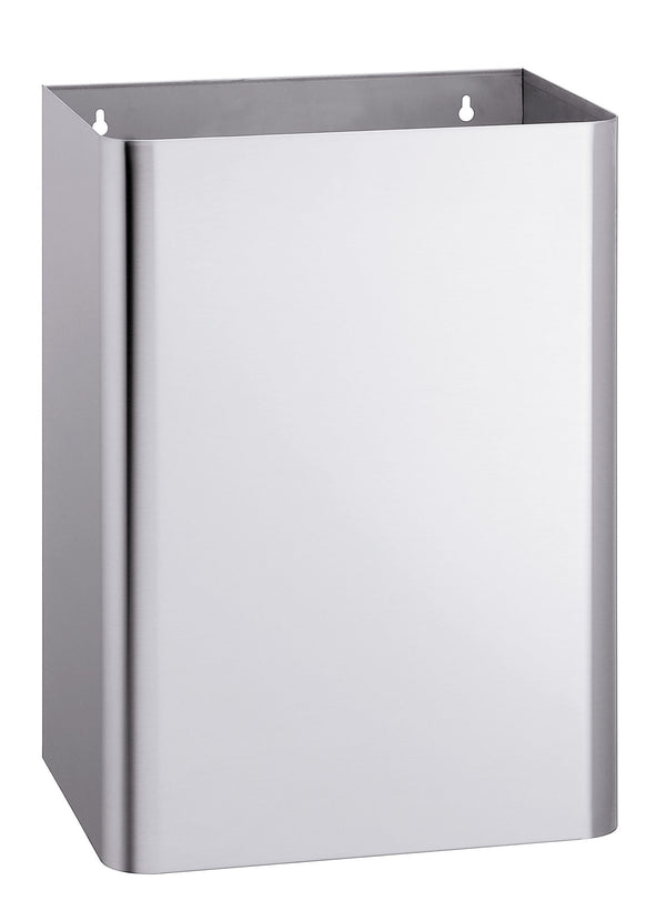 Bradley 355-6500 Waste Receptacle Hinged Cover w/ Push Flap Door 20.6 Gal. Surface Mounted - Satin - Prestige Distribution