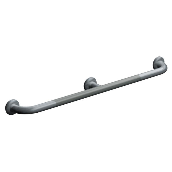 "ASI 3702-48 Grab Bar w/ Intermediate Support Straight Snap Flange 48"" - Satin"