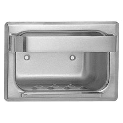 ASI 0399 Soap Dish w/ Bar Stainless Steel Wet Wall Recessed - Bright