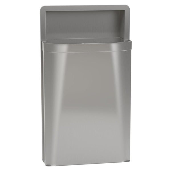 Bradley 3A05-1036 Diplomat Waste Receptacle Removable 18 Gal. Semi-Recessed - Satin - Prestige Distribution