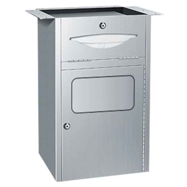 ASI 4004 Traditional Paper Towel Dispenser & Waste Receptacle Under Vanity - Satin - Prestige Distribution