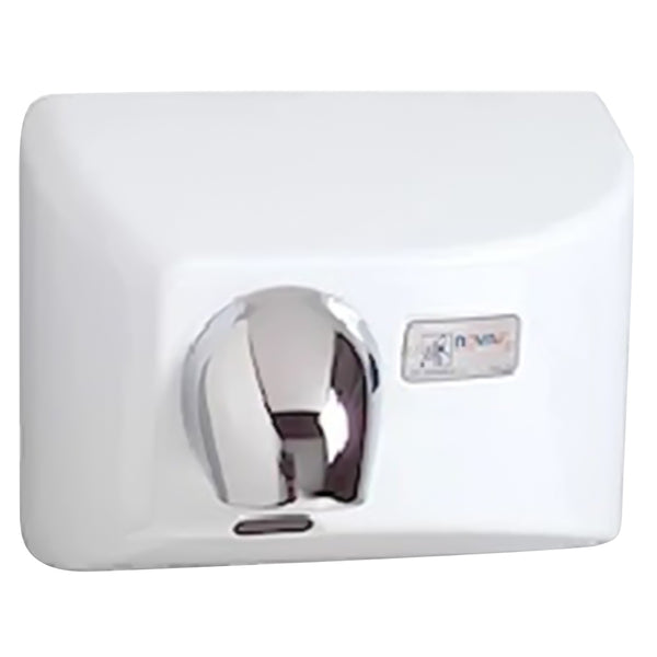 World Dryer 41200000 NOVA 4 Automatic Hand Dryer Cast Iron Surface Mounted - White