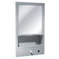 ASI 0430 Traditional All Purpose Cabinet w/ Shelf, Mirror, Towel & Liquid Soap Dispenser Recessed - Satin