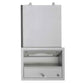 ASI 0431 Traditional All Purpose Cabinet w/ Shelf, Towel, Liquid Soap Dispenser Recessed - Satin