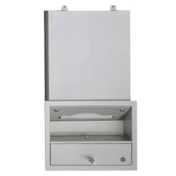 ASI 0436 Traditional All Purpose Cabinet w/ Shelf & Towel Dispenser Recessed - Satin