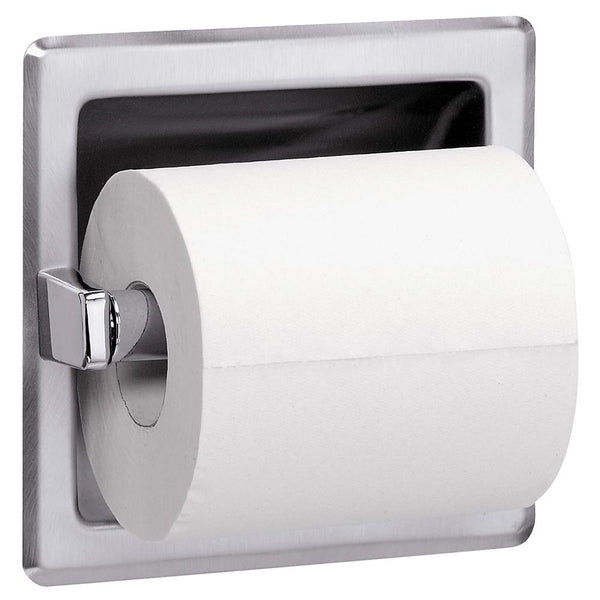 Bradley 5102-0000 Toilet Paper Dispenser Single Roll Recessed - Bright